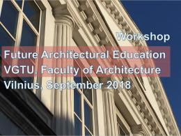 future architectural education